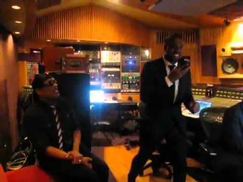 Kanye West And Charlie Wilson In The Studio Making History