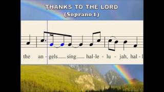 O47a Thanks to the Lord (Soprano 1)