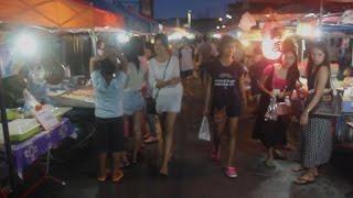 Trang Thailand  city images : Walking Street Night Market in Trang Thailand. Thai Street Food and Shopping in Trang
