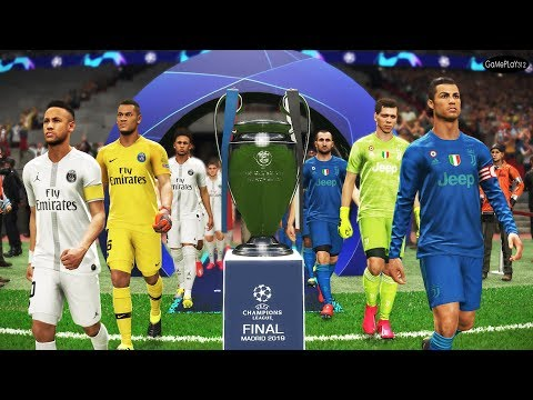 Juventus Vs PSG - Final UEFA Champions League UCL - Neymar Vs Ronaldo - PES 2019