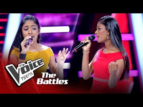 The Battles : Shakya Nethmi v Rashmi Pabasara   Adaraya Nisa   The Voice Teen Sri Lanka