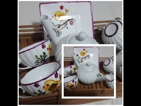 Jogo de Chá - forno caseiro