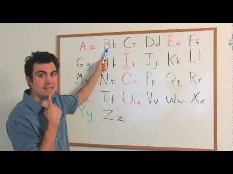 The English Alphabet (Beginner, Level 1)
