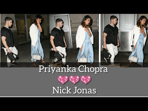 Nick Jonas and Priyanka Chopra last night in NYC