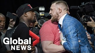 Video Floyd Mayweather vs. Conor McGregor Toronto press conference showdown MP3, 3GP, MP4, WEBM, AVI, FLV Juni 2019