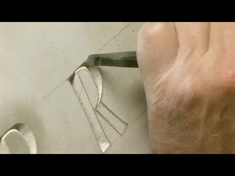 Engraving stone by hand, fascinating and relaxing