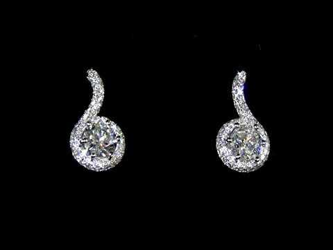女裝18K白金2.05克拉(總重)加拿大鑽石耳環