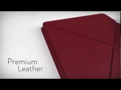 Chose best Standing Leather Origami Case Red 8.9