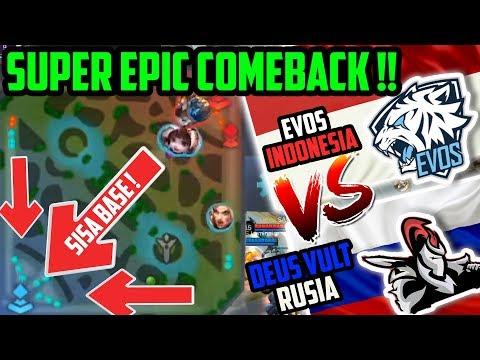 SUPER EPIC COMEBACK PALING GILA, EVOS 🇮🇩 TAK PERNAH MENYERAH! VS RUSIA DEUS, VULT M1 WORLD