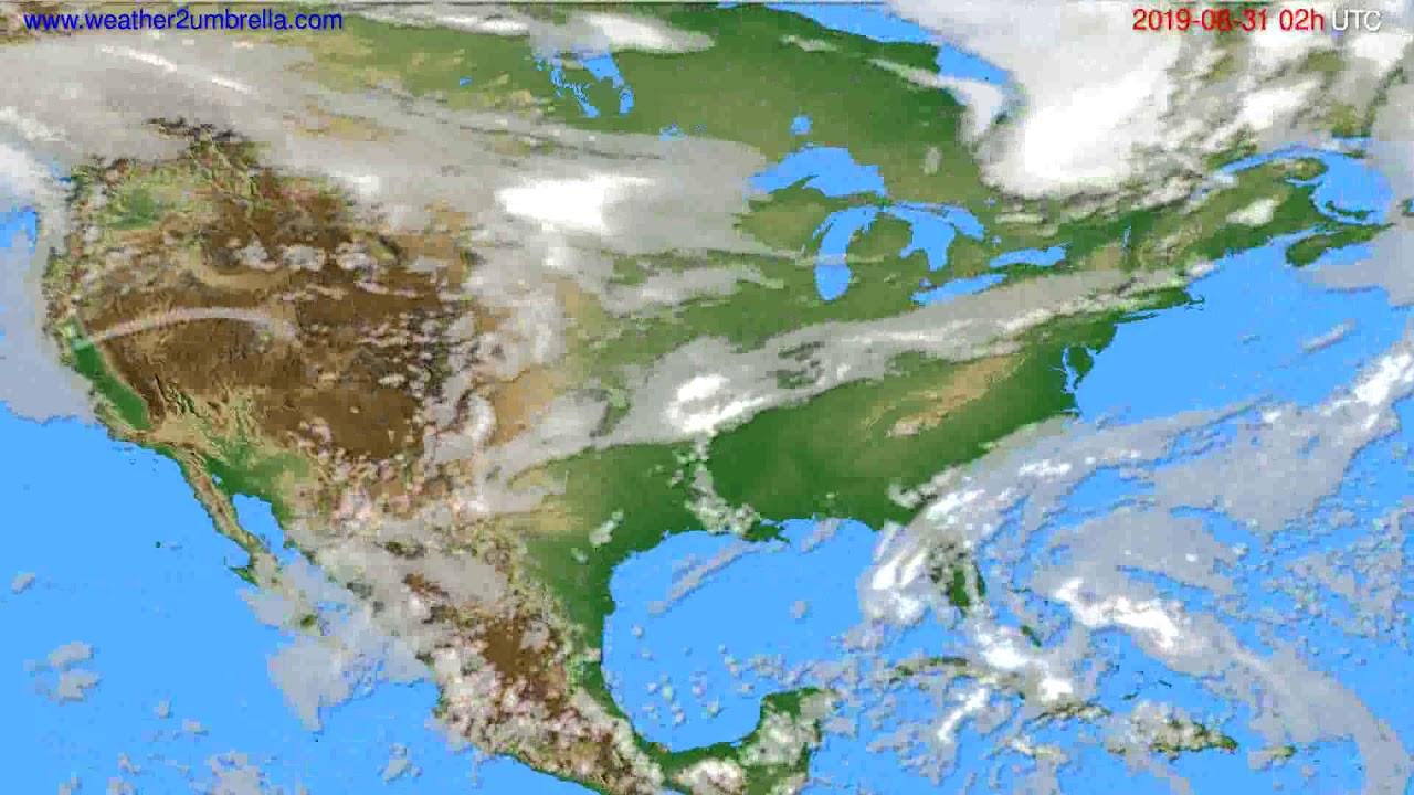 Cloud forecast USA & Canada // modelrun: 12h UTC 2019-08-28
