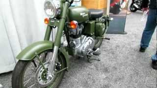 1. 2012 Royal Enfield Bullet C5 Military Battle Green / Desert Storm Walk Around & Info