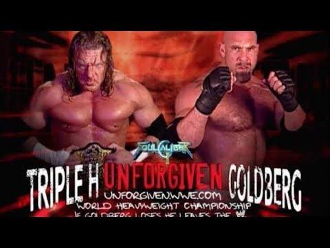 Wwe Triple H Vs Goldberg World Heavyweight Championship Title vs. Career Match At Unforgiven 2003
