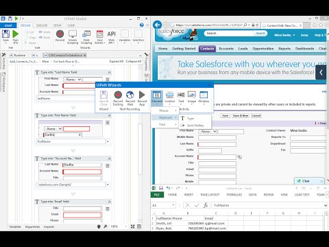Web Data Entry Automation. CSV to Salesforce - UiPath Studio