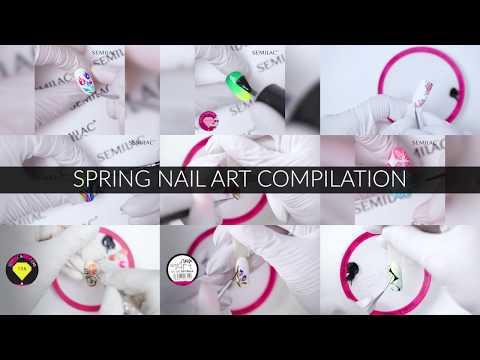 Wiosenne zdobienia  Spring nail art compilation  Semilac TV