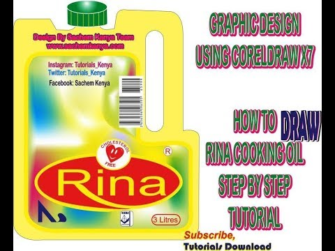 Graphic Designs-How To Draw Rina Cooking Oil Using Coreldraw X7 | Sachem Kenya