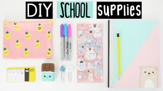 Video DIY SCHOOL SUPPLIES For Back To School! MP3, 3GP, MP4, WEBM, AVI, FLV Desember 2018