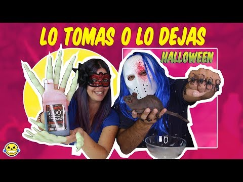 LO TOMAS O LO DEJAS HALLOWEEN  SLIME take It or leave It HALLOWEEN EDITION Momentos Divertidos