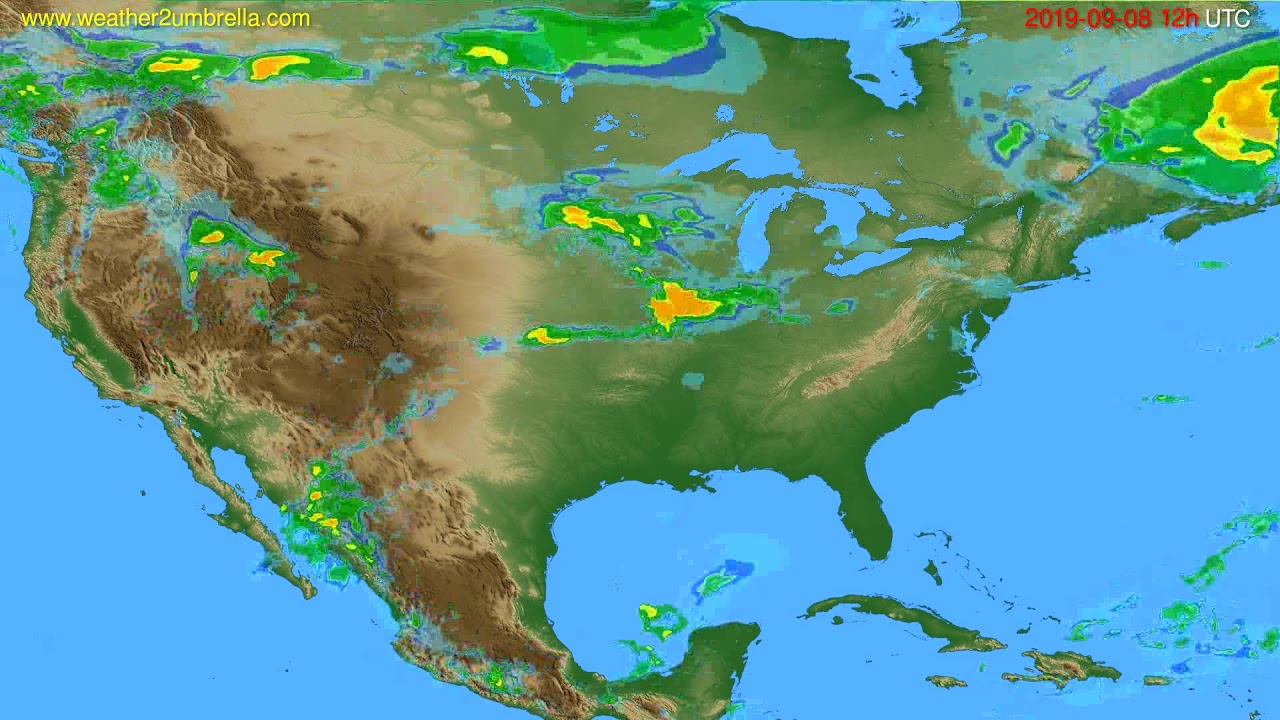 Radar forecast USA & Canada // modelrun: 00h UTC 2019-09-08