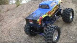 http://www.redcatracing.com/RC-Cars/1-10-Scale-Electric-Standard/GroundPounder Long Awaited State of the Art 4WD and 4WS Ground Pounder 1/10 scale monster tr...