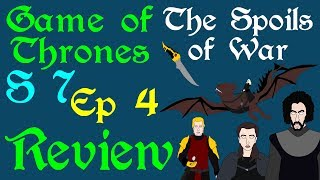 "A brief review of Game of Thrones, Season 7 Episode 4, titled The Spoils of War, including top 5 moments, line of the episode, kill of the episode and a final score. Exploring from the Winterfell reunion to the Field of of Fire. Based on the series A Song of Ice and Fire by George R R Martin.Support Civilization Ex with a Monthly Pledge of your choice at:https://www.patreon.com/civilizationexFollow us https://twitter.com/civilizationexVisit our Site: http://www.civilizationex.com/Music By RFGBc: https://www.youtube.com/channel/UCQKGLOK2FqmVgVwYferltKQMusic by Ross Bugden (RFGB): ""Ice and Fire""https://www.youtube.com/channel/UCQKG...If you would like to show your support, please Donate! :)https://www.paypal.com/cgi-bin/webscr..."