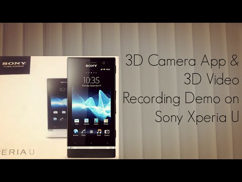 how to use 3d camera in xperia go