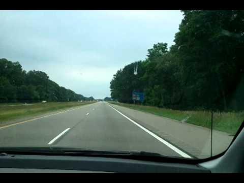 Interstate 96 Westbound Through Lansing,Michigan