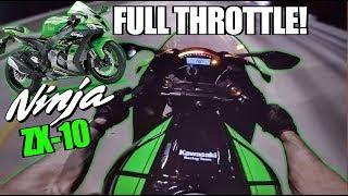 3. Ninja ZX-10 KRT Edition Full Throttle Test + Stunts - Grom Squad Stunt Ride