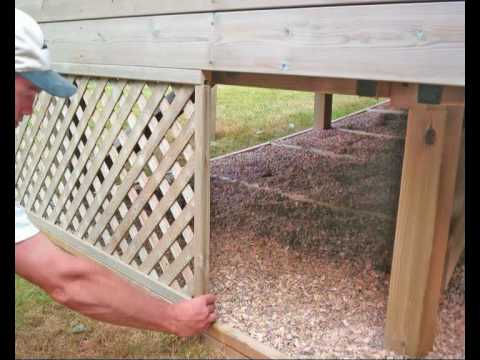 Griswouls Building A Shed Under An Existing Deck