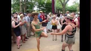 7th Annual Jazz Age Lawn Party Swing Dance Jam Circle + Vintage Swimsuit JALP 2012 - YouTube