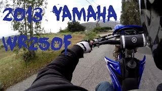 1. NEW 2013 YAMAHA WR250F - 1st ride & Review + WHEELIES !!!