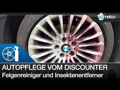 Auto XS Felgenreiniger und Insektentferner - Autopflege vom Discounter Test - Autopflege Produkttest