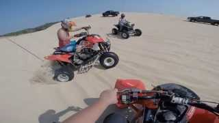 4. 2008 Polaris Outlaw 450 MXR vs Outlaw IRS at Silver Lake Sand Dunes