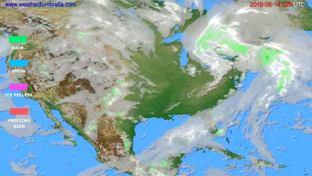 Precipitation forecast USA & Canada // modelrun: 12h UTC 2019-06-11
