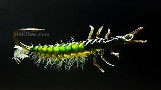 Fly Tying a Rhyacophila Caddis Larva by Mak