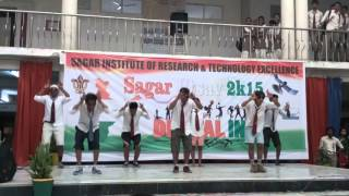 Sagar Institute of Research and technology Excellence     civil engineering last year boys performance in Sagar utsav 2016