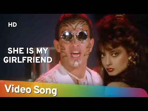 She Is My Girlfriend | Bhrashtachar (1989) | Mithun Chakraborty | Rekha | Romantic Song