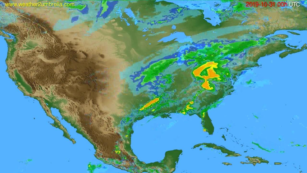 Radar forecast USA & Canada // modelrun: 12h UTC 2019-10-30