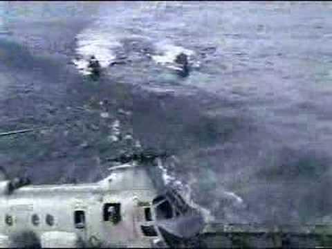 Naval Helicoptor Landing Gone Wrong