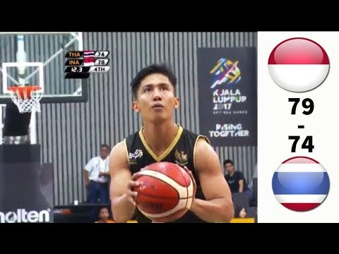 BIKIN TEGANG DIMENIT AKHIR! INDONESIA VS THAILAND -  SEMIFINAL BASKET PUTRA