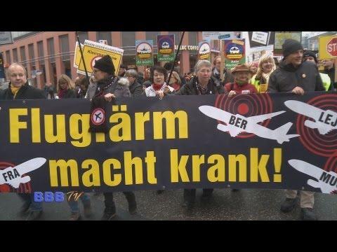 Berlin 2012: Stoppt Nachtflug - Großdemo vor der SPD Ze ...