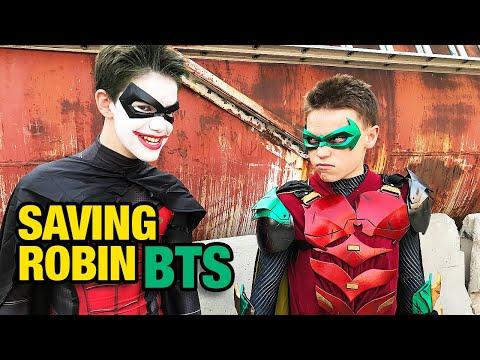 Ninja Kidz Saving Robin from the Joker - BTS