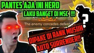 Video PANTESAN HERO INI DI PAKE TERUS DI MSC!! DIPAKE DI RANK MUSUH AUTO SURRENDER!! - Mobile Legends MP3, 3GP, MP4, WEBM, AVI, FLV Juni 2019