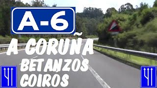 Betanzos Spain  city photos : A-6 Autovía del Noroeste , Zona Betanzos - Coirós , A Coruña / Highways in Spain
