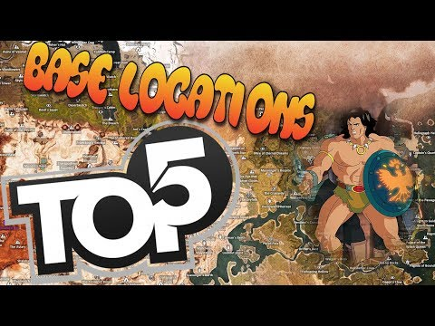 Top 5 SPOTS To Build Conan Exiles