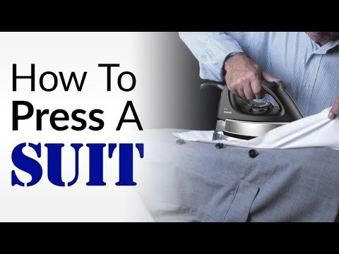 Iron Suits Without DAMAGING Them? | How To CORRECTLY Press Suit Jackets