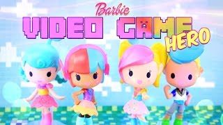 Unbox Daily  Barbie Video Game Hero   Vinyl Figures   Doll Review   4k