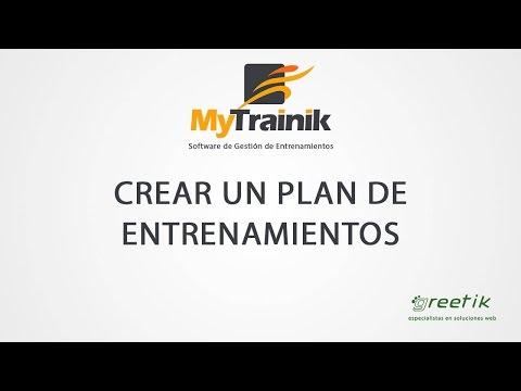 MyTrainik. Crear un plan de entrenamientos