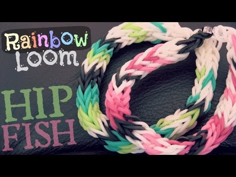 Rainbow Loom : Half Inverted Double Cross Fishtail – How To – HIP Fish