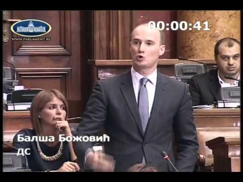 Балша Божовић у Скупштини о амандманима на Предлог закона о озакоњењу објеката