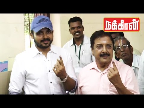 Sivakumar-Karthi-EMOTIONAL-SPEECH-after-casting-their-vote-TN-Election-2016